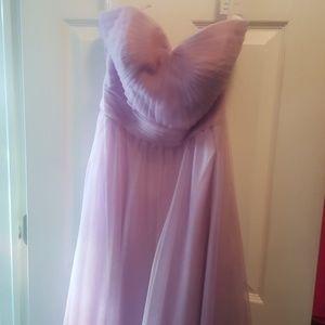long bridal dress (lilac)